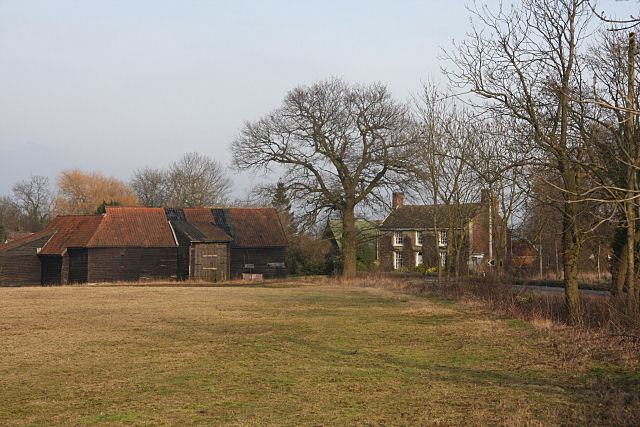 Farm buildings at Luckey's Farm