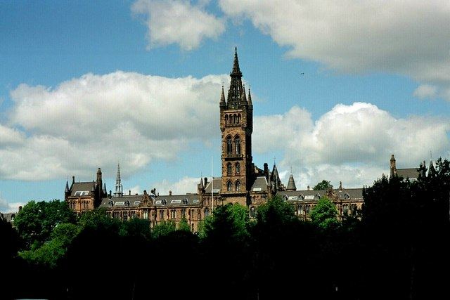 Glasgow, University tower