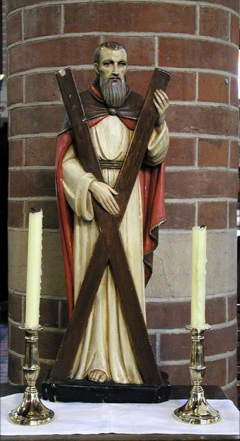 St Andrew, Hillingdon Road, Uxbridge - Statue