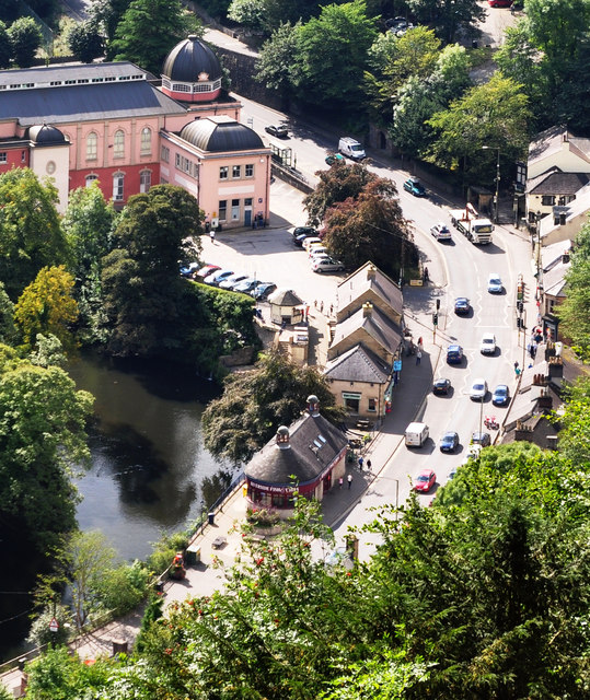 Matlock Bath from Heights of Abraham