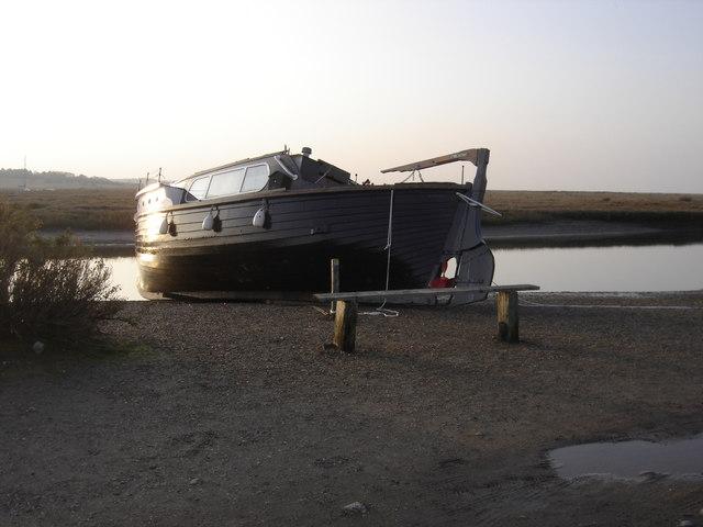 Old Houseboat at Blakeney.