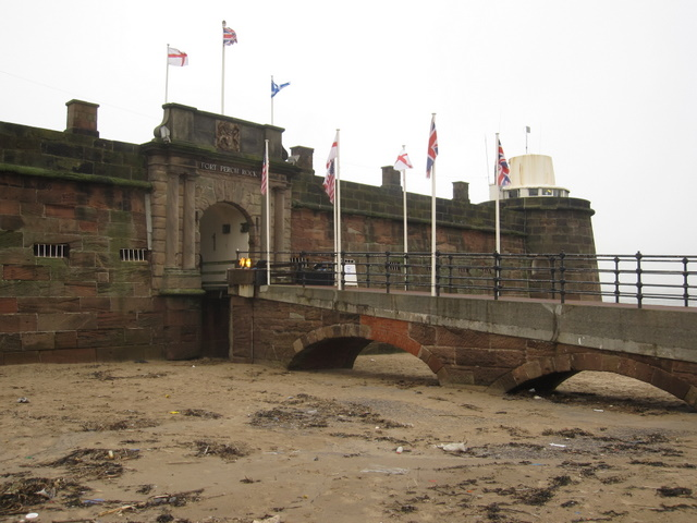Entrance to Fort Perch Rock