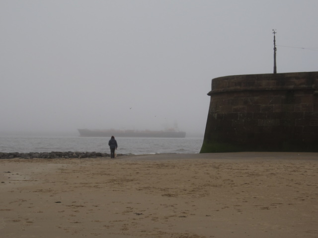 Mersey fog and Fort Perch Rock