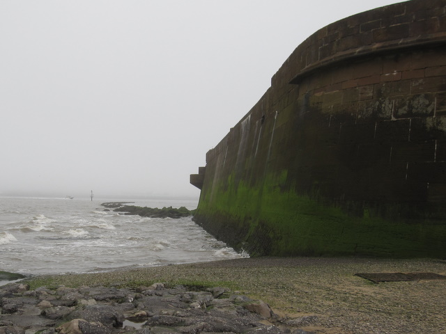 The north side of Fort Perch Rock