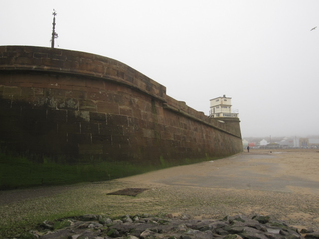 The west side of Fort Perch Rock