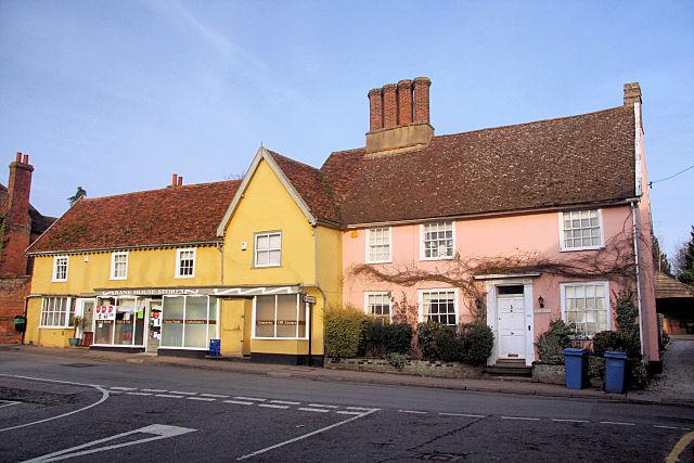 The Dower House and village stores, Bildeston