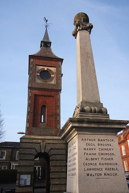 War memorial and clock tower, Bildeston