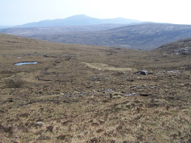 Un-named burn between the SW flank of Meall na Tanga and the NE slopes of Creag Dubh Mor.