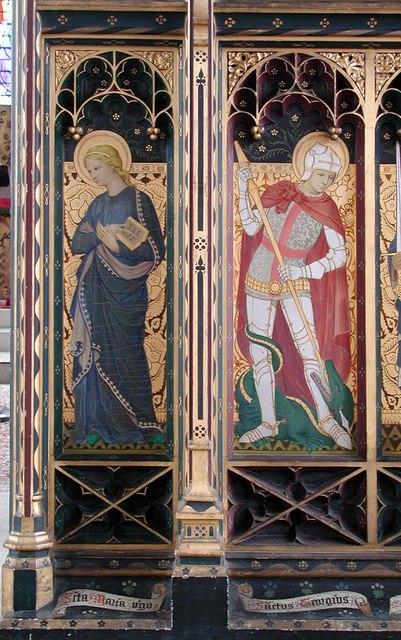 St Cyprian, Glentworth Street, London NW1 - Screen panel