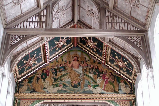 St Cyprian, Glentworth Street, London NW1 - Painting above chancel arch