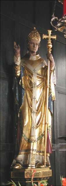 St Cyprian, Glentworth Street, London NW1 - Statue
