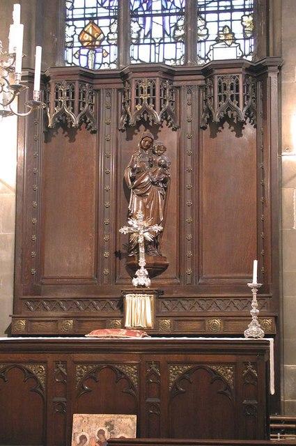 St Mary of Eton, Eastway, Hackney Wick, London E9 - Reredos