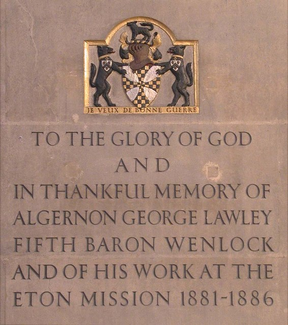 St Mary of Eton, Eastway, Hackney Wick, London E9 - Memorial