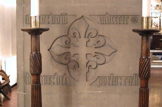 St Mary of Eton, Eastway, Hackney Wick, London E9 - Inscription