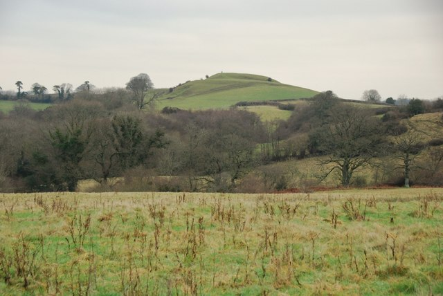 Castle Hill from the lane to West Chelborough