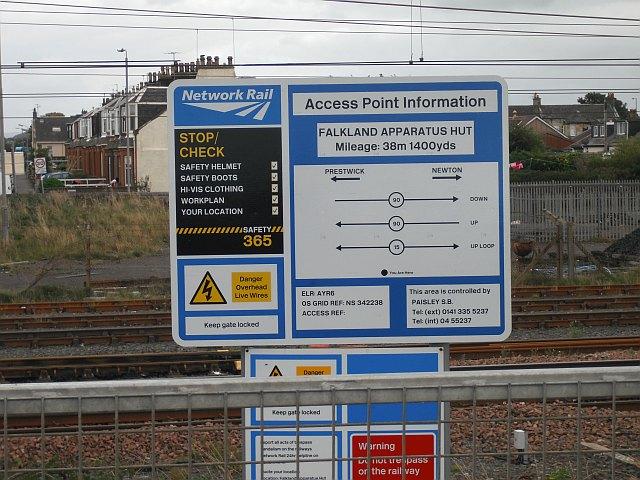 Site access notice, Falkland Yard