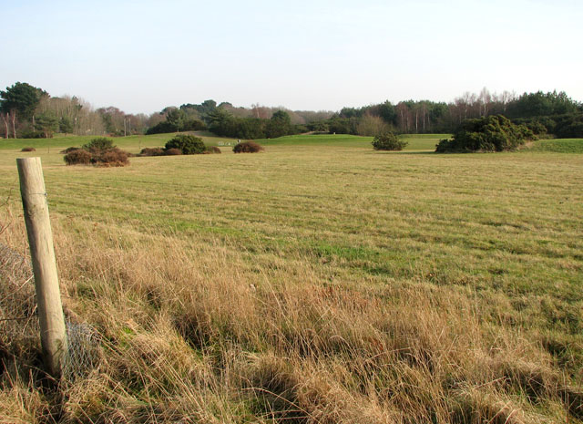 The north-eastern edge of Caldecott Hall golf course