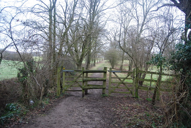 Kissing Gate as footpath exits The Slips