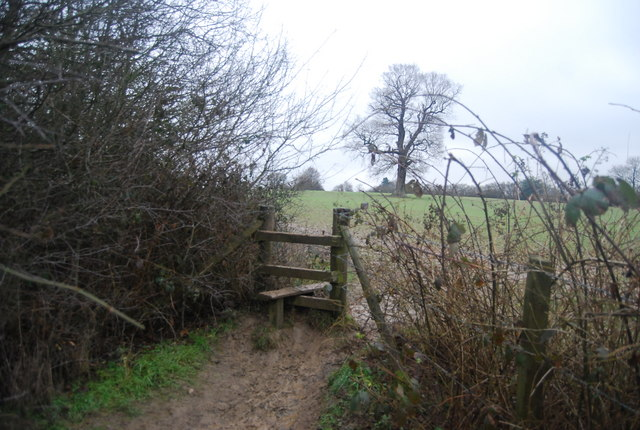 Stile, footpath to Chiddingstone