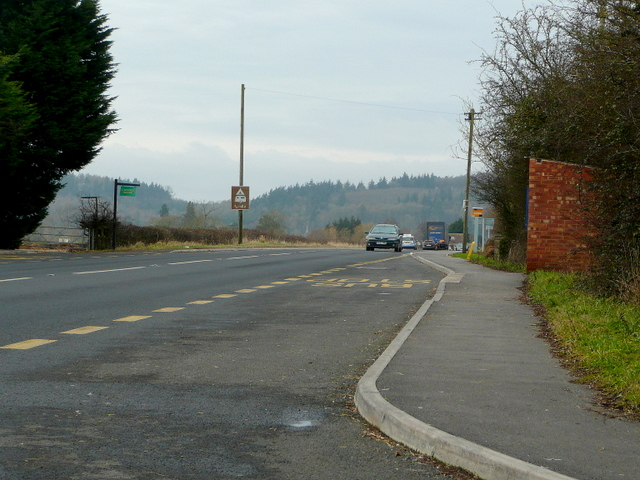 A40 looking towards Huntley