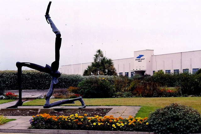 Ronaldsway Airport - Three Legs-of-Man sculpture