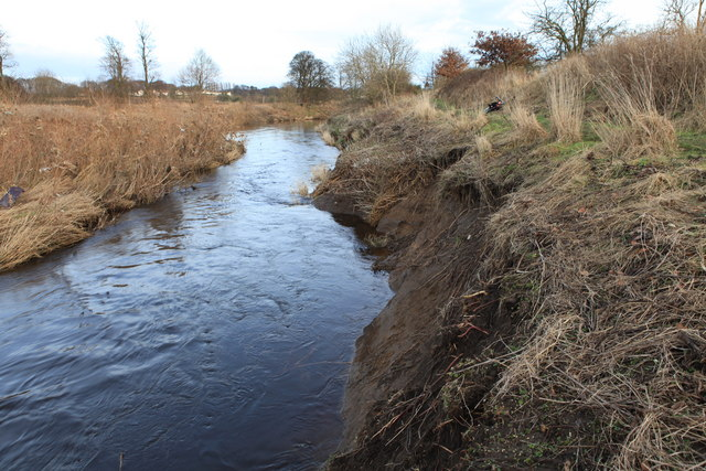 Bankside erosion on the River Almond