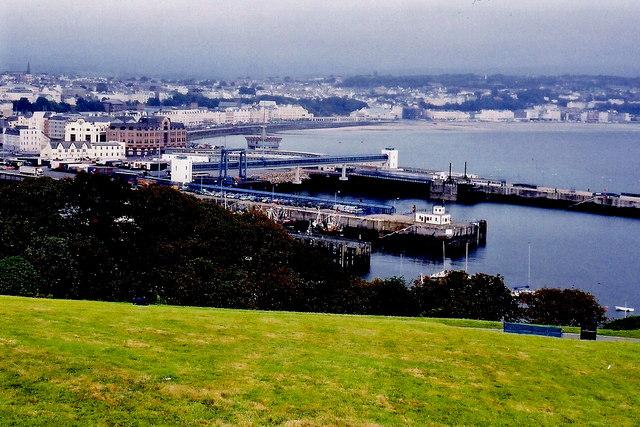 Douglas Head - Hillside, harbour, and bay