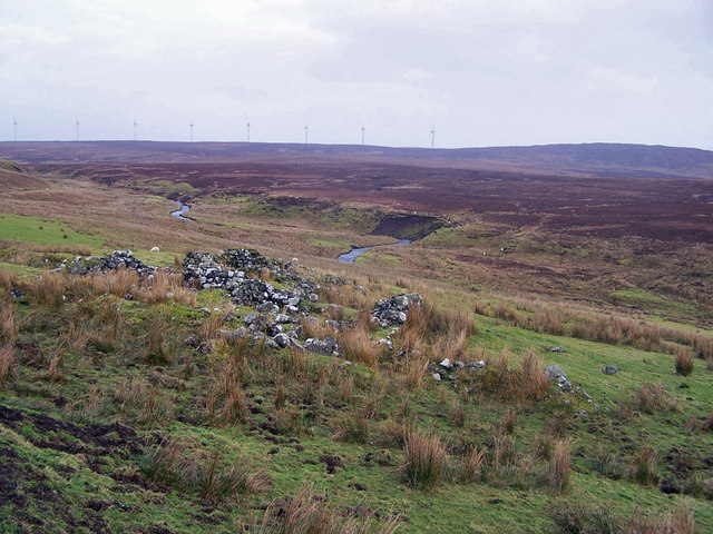 Ruined farmstead in Glen Heysdal