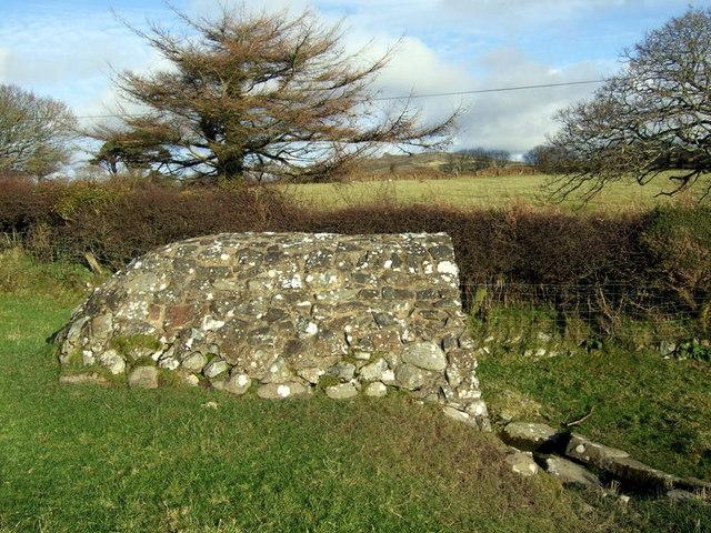 Llanllawer holy well and Mynydd Dinas