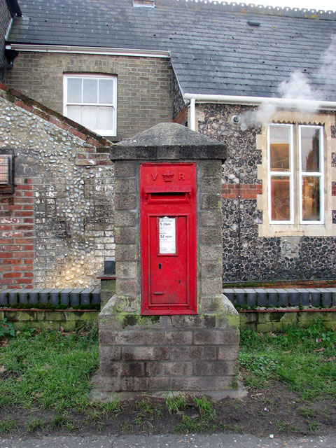 Victorian postbox by Bradwell Community Centre