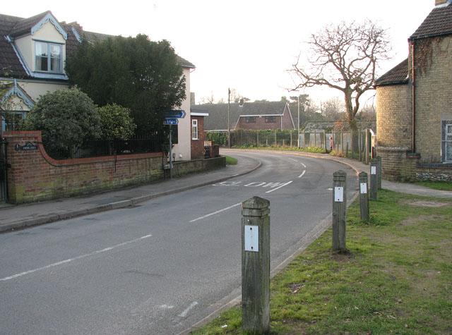 View south-west along Green Lane
