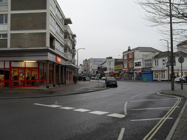 Junction of Queensway and the High Street