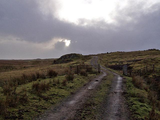 Farm track towards Upper Feorlig