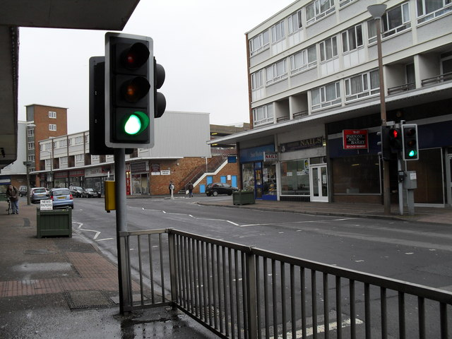 Pedestrian crossing in Queensway
