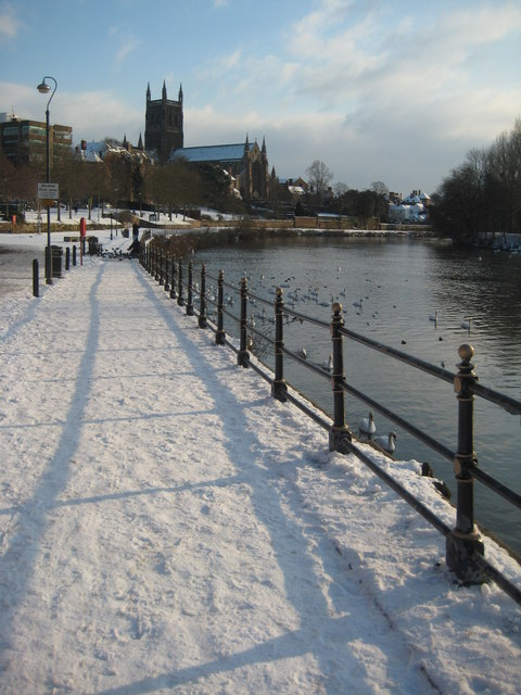 South Quay and Worcester Cathedral