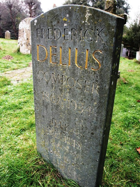 Frederick Delius' grave at Limpsfield Church.