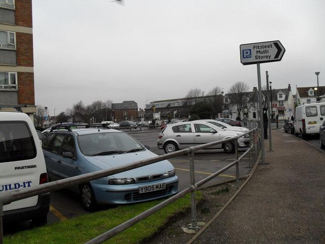 Car park by Fitzleet House