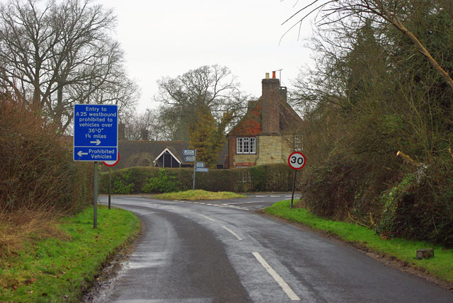 Road junction, South Nutfield