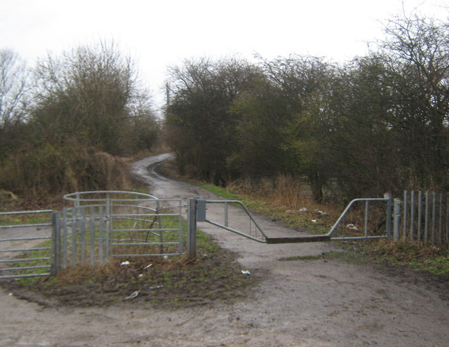 Bridleway entrance Glebe Road Darlington
