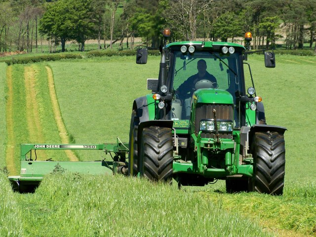 Mowing For Silage - Wolfclyde Farm