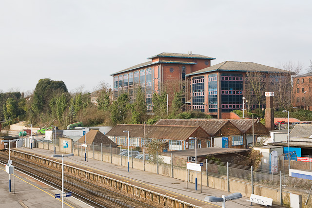 Southbrook Rise, seen across railway station