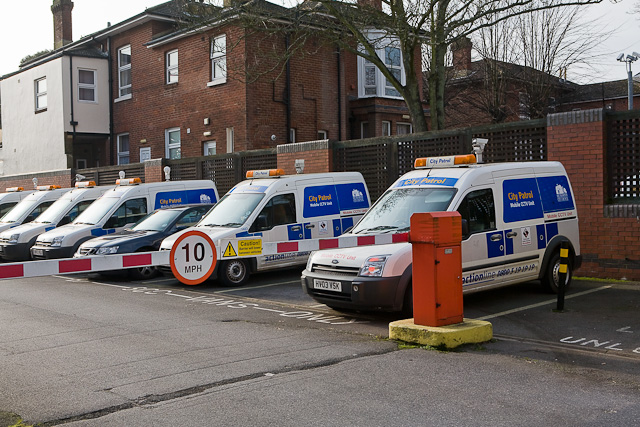 Mobile CCTV units parked at Southbrook Rise