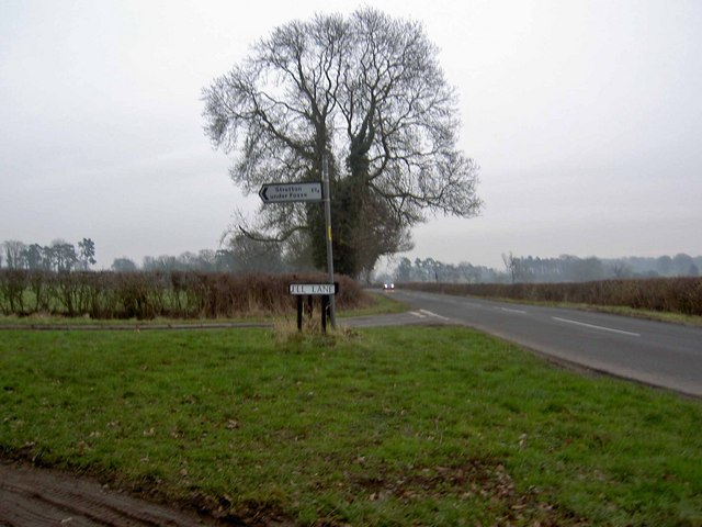 Ell lane junction near Brinklow Warwickshire