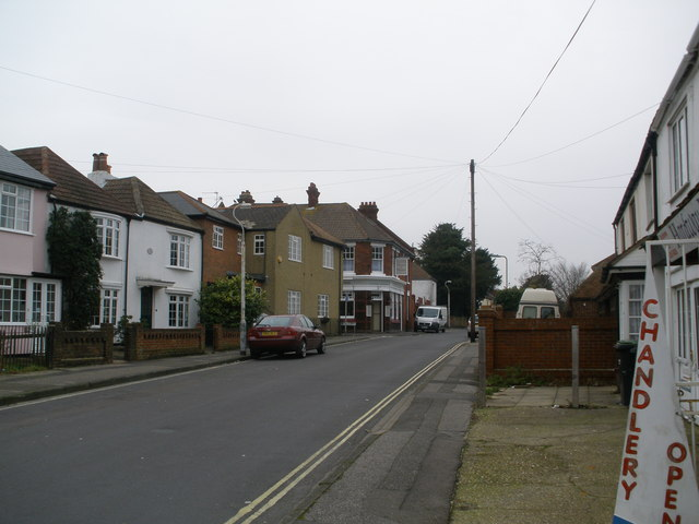 Looking down Priory Road towards The Old House at Home.