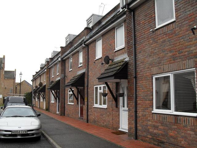 Modern houses in Steyne Street
