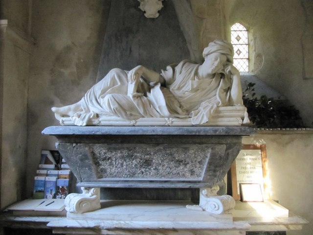 Reclining monument