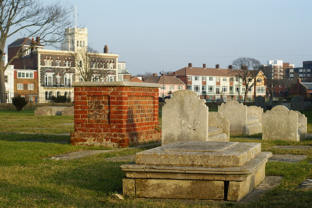 Gravestones at the Garrison Church, Portsmouth