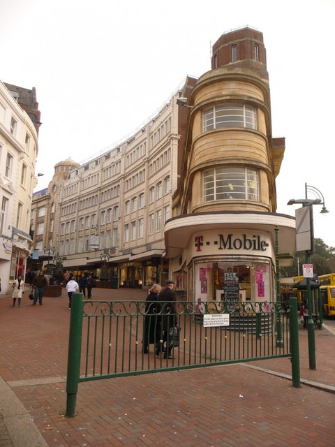 Bournemouth: wedge-shaped shop between Old Christchurch Road and Gervis Place