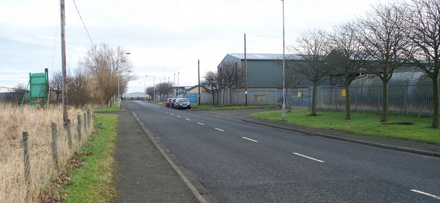The road through the Industrial Estate