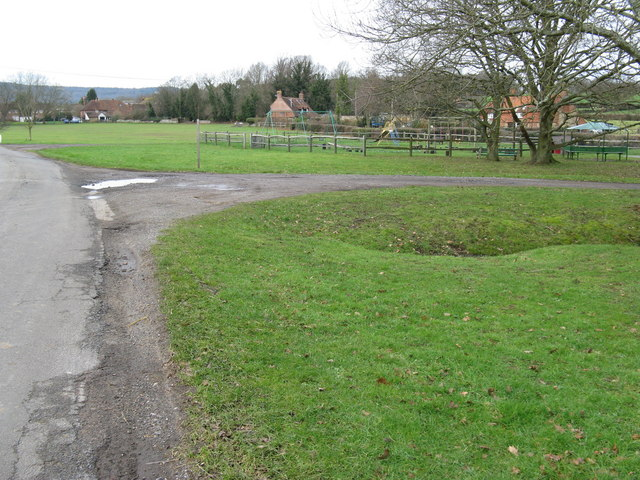 Playground area by bridleway waymarker